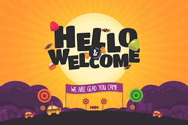 Hello & Welcome Trunk Or Treat Autumn Motion Graphic