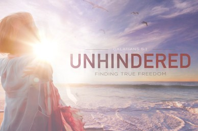 Unhindered Finding Freedom Sermon Motion Graphic