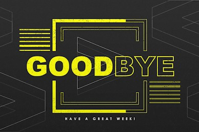 We > Me Goodbye Motion Graphic