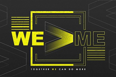 We > Me Together Motion Graphic