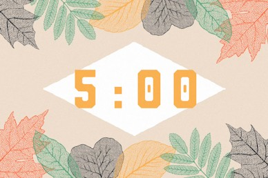 Autumn Leaves Five Minute Countdown Motion Graphic