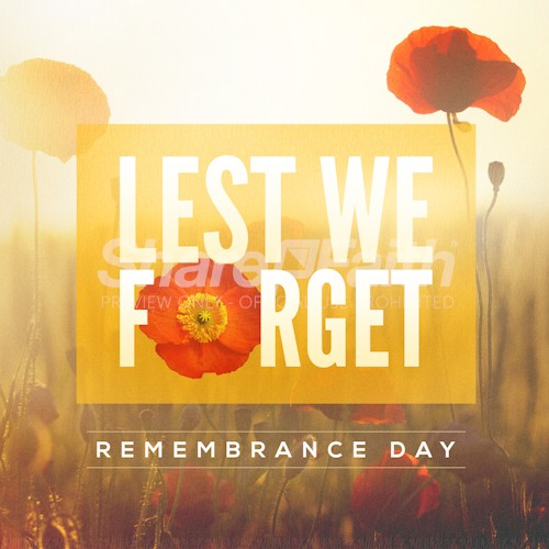Lest We Forget Poppy Social Media Graphic