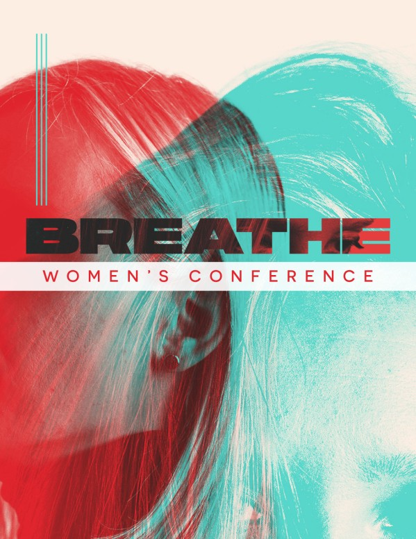 Breathe Women's Conference Church Flyer
