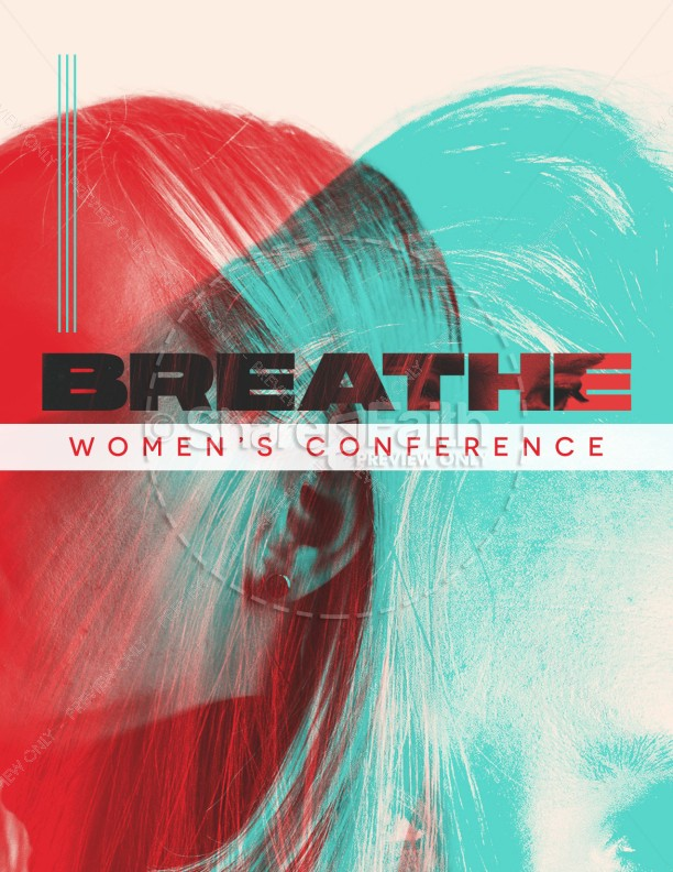Breathe Women's Conference Church Flyer | page 1