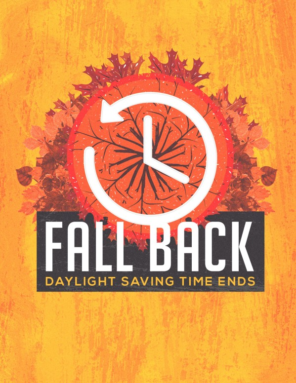 Fall Back Daylight Savings Flyer