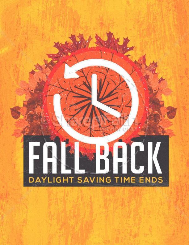 Fall Back Daylight Savings Flyer