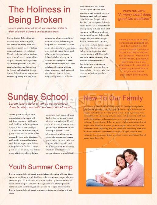 Fall Back Daylight Savings Church Newsletter