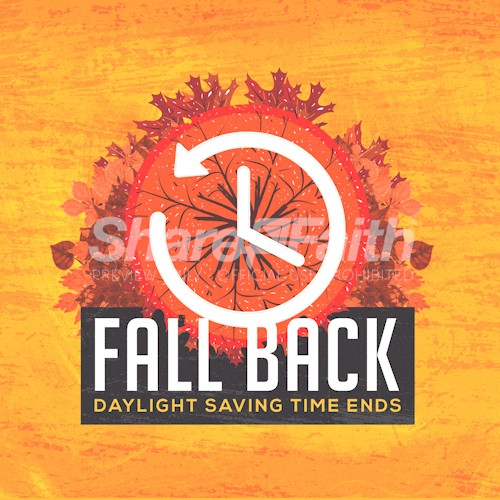 Fall Back Daylight Savings Social Media Graphic