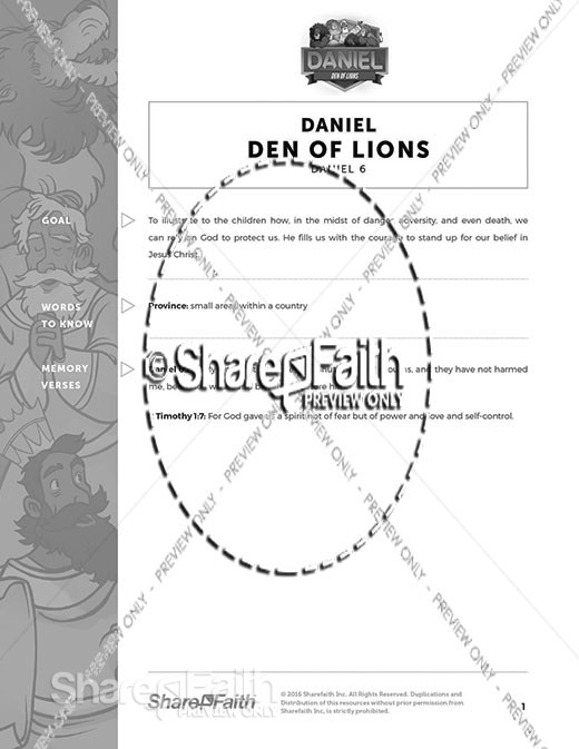 Daniel 6 Den of Lions Curriculum