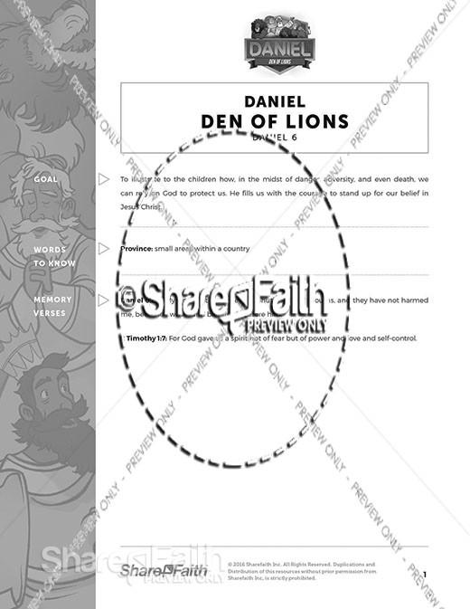 Daniel 6 Den of Lions Curriculum