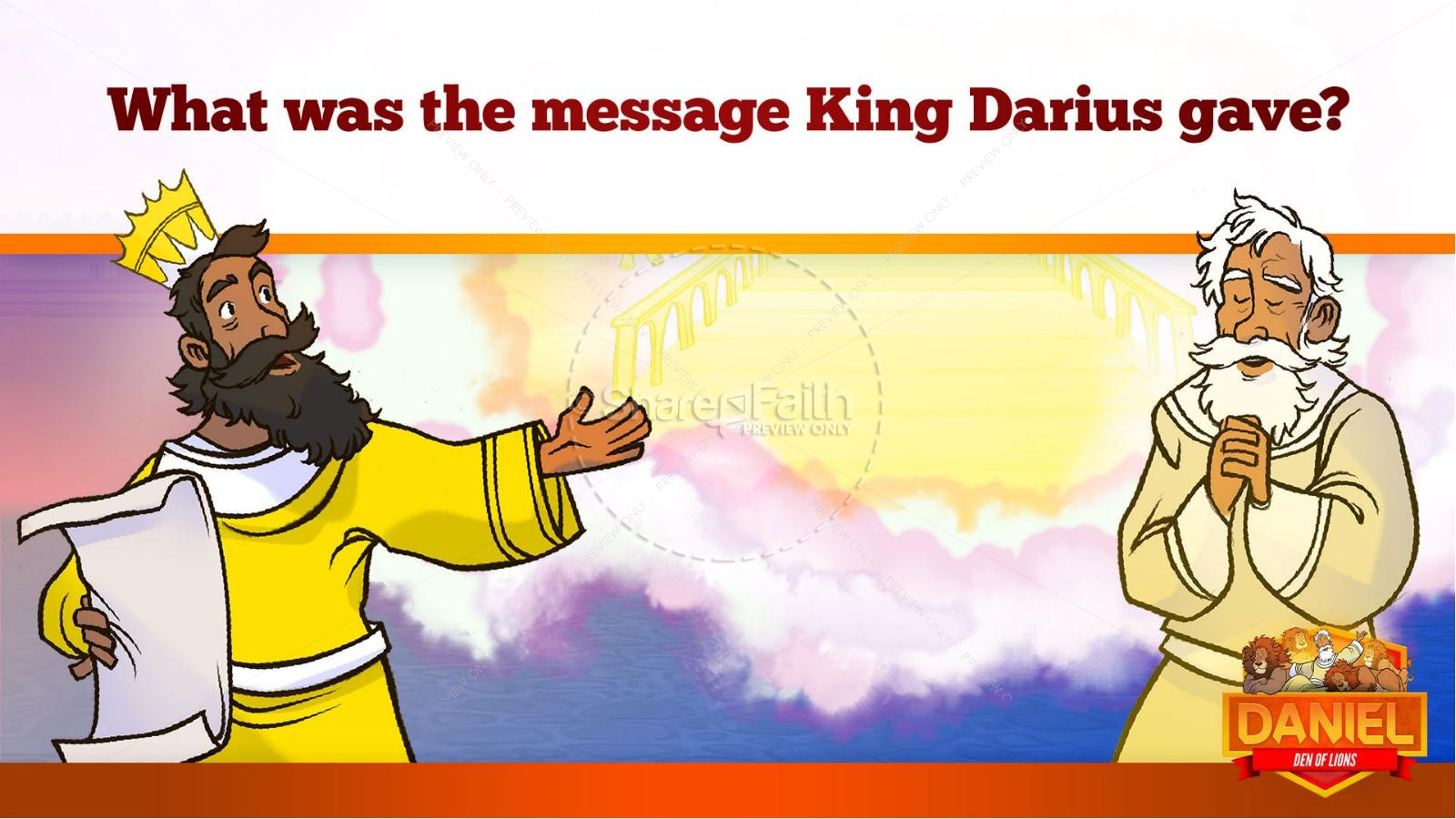 Daniel 6 Den of Lions Kids Bible Story