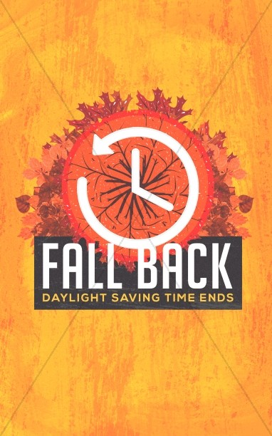 Fall Back Daylight Savings Church Bulletin