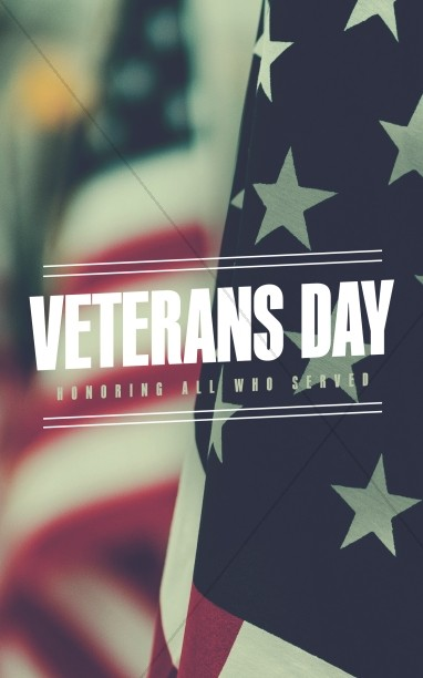 Veterans Day Honor Church Bifold Bulletin