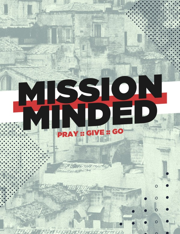 Mission Minded Church Flyer