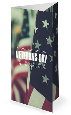 Veterans Day Honor Trifold Bulletin