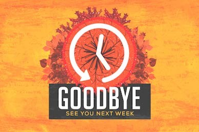 Fall Back Goodbye Motion Graphic