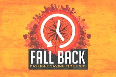 Fall Back Daylight Savings Motion Graphic