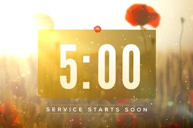 Lest We Forget Countdown Motion Graphic