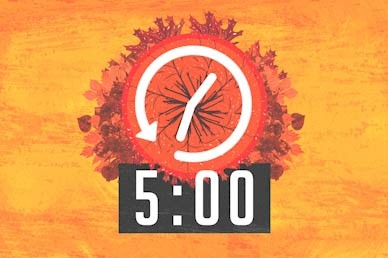 Fall Back Countdown Motion Graphic