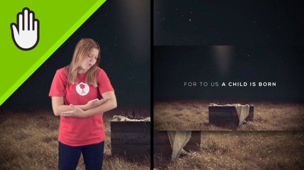 A Child Is Born Worship Video for Kids Hand Motions Split Screen