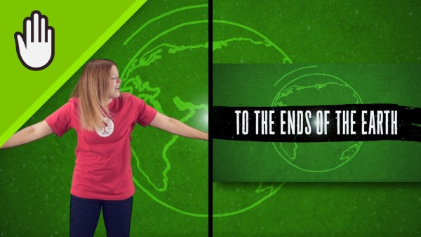 To The Ends Of The Earth Worship Video for Kids Hand Motions Split Screen