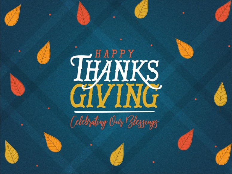 Celebrating Our Blessings Thanksgiving Church Powerpoint