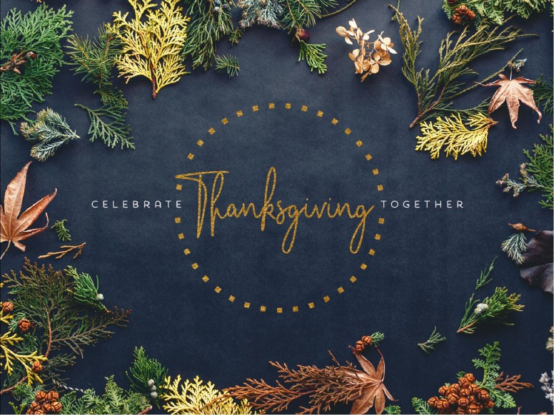 Celebrate Thanksgiving Together Church Powerpoint