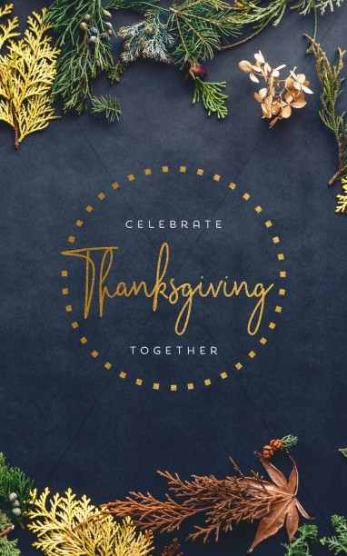 Celebrate Thanksgiving Together Bifold Bulletin