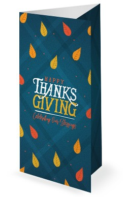 Celebrating Our Blessings Thanksgiving Church Trifold Bulletin