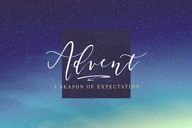 Advent Season of Expectation Church Motion Graphic