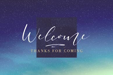 Advent Season Welcome Church Motion Graphic