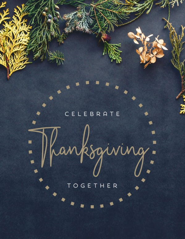 Celebrate Thanksgiving Together Church Flyer