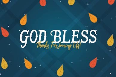 Celebrating Our Blessings God Bless Church Motion Graphic