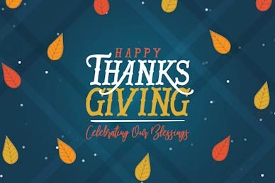 Celebrating Our Blessings Thanksgiving Church Motion Graphic