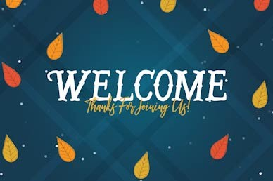 Celebrating Our Blessings Welcome Church Motion Graphic