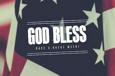 Veterans Day God Bless Church Motion Graphic