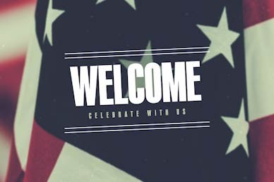 Veterans Day Welcome Church Motion Graphic