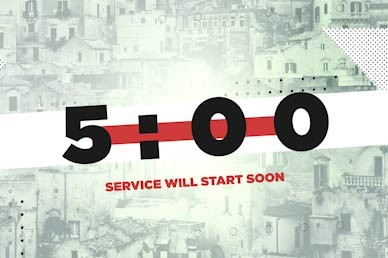 Mission Minded Countdown Church Motion Graphic