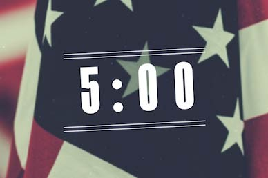 Veterans Day Countdown Church Motion Graphic