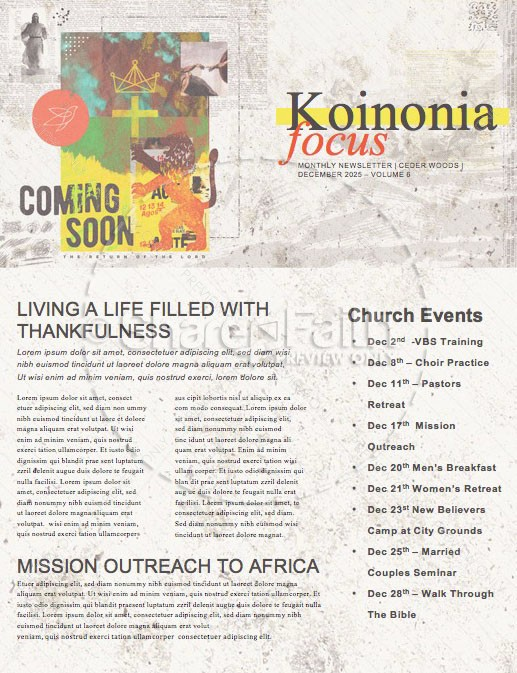 Ready Or Not Church Newsletter