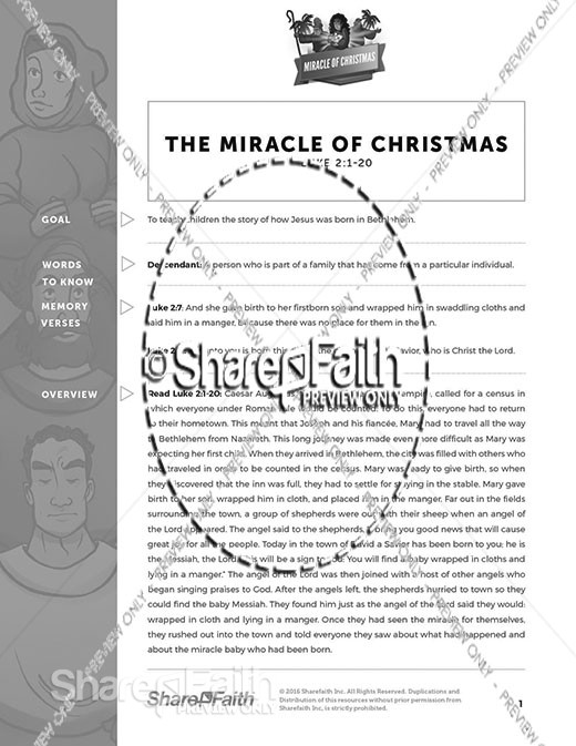 Luke 2 The Miracle of Christmas Curriculum