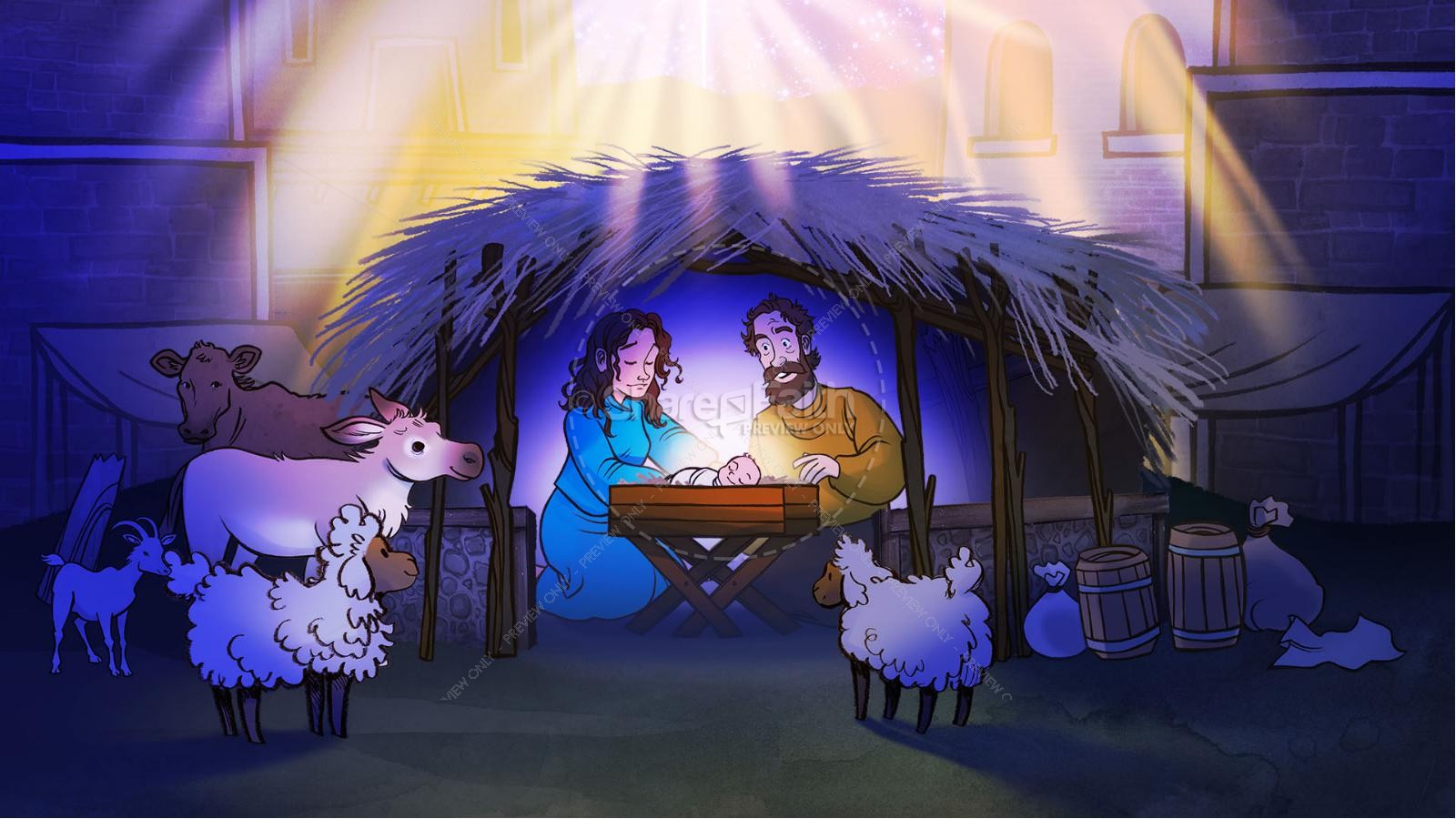 Luke 2 The Miracle of Christmas Kids Bible Story