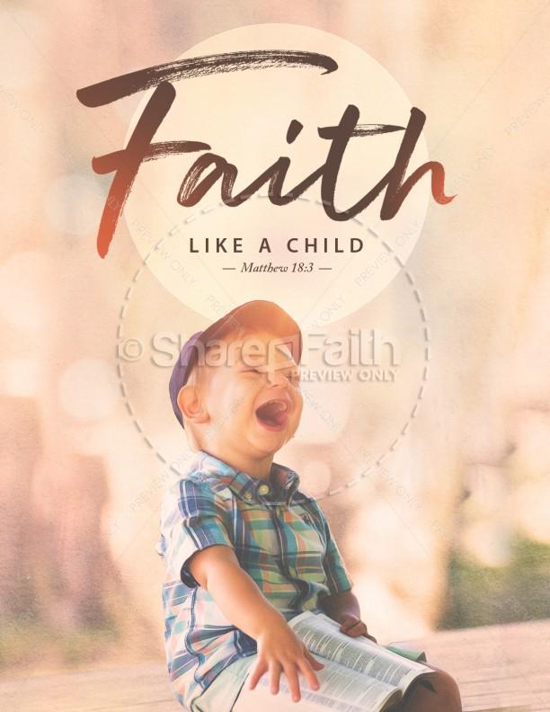 Faith Like A Child Church Flyer