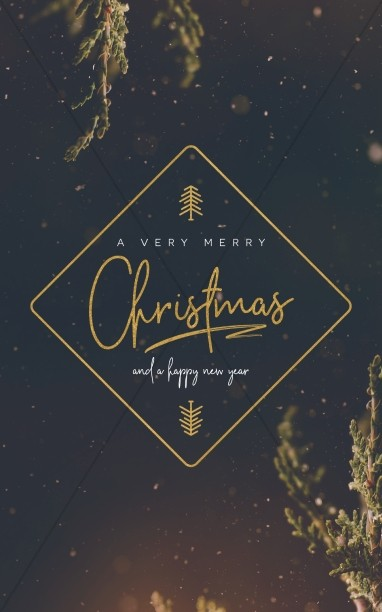 Very Merry Christmas Church Bifold Bulletin