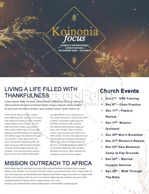 Very Merry Christmas Church Newsletter | page 1