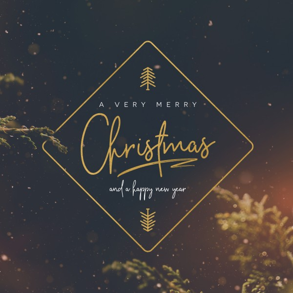 Very Merry Christmas Church Social Media Graphic