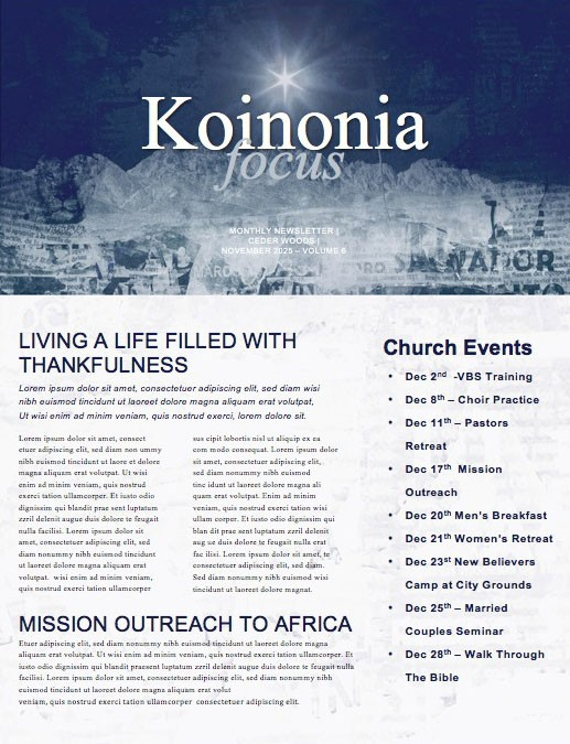 Good News Church Newsletter
