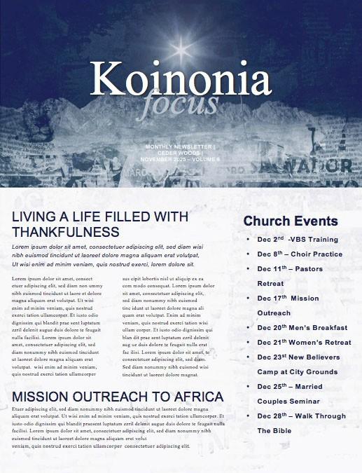 Good News Church Newsletter