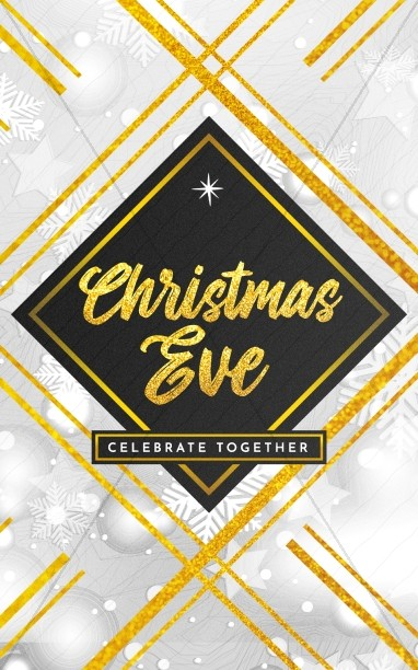 Christmas Eve Celebrate Together Church Bifold Bulletin