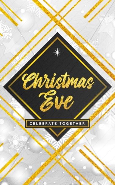 Christmas Eve Celebrate Together Church Bifold Bulletin